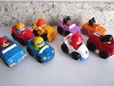 Fisher Price Little People Wheelies - lot of 8 vehicles, dozer, fire, race car