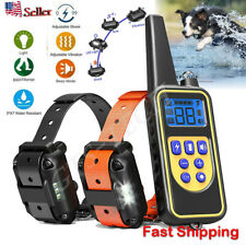 Waterproof Dog Shock Training Collar Rechargeable Remote Control Ip67 875 Yards