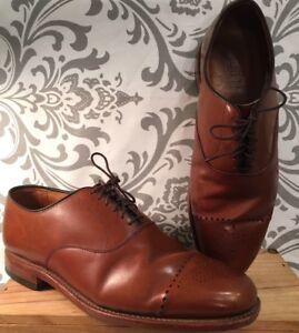 Allen Edmonds Adobe Brown Leather Men's Dress Shoes Size 8 1/2 #140