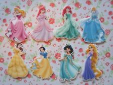 8 x Disney Princess Flatback Planar Resin Embellishment Craft Hair bow *UK*