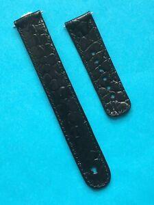 Junghans Mega Lederband 025/4220  mit Antenne 020/  schwarz  025/  und 029/ 019/