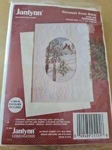 Cross Stitch Kit Christmas Janlynn Card And Envelope