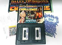 Amstrad CPC 464 game Daily Thompson Olympic Challenge wall chart+1988 Catalogue
