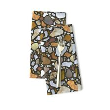 Terrazzo Mosaic Pebbles Stone Texture Cotton Dinner Napkins by Roostery Set of 2