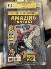 Amazing Fantasty 15 True Believers Signed By Stan Lee CGC 9.6 Spiderman
