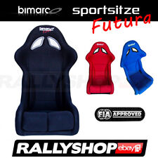 FIA BIMARCO FUTURA Sportsitz  Schwarz Rot Blau Sport Rally Sitze Glasfaser