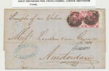 Gb-Amsterdam 1866, Pair Of 3d Pl#4 On Letter, Amsterdam Recvr (See Below)