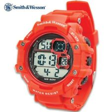 Smith & Wesson Red Digital Shock Tactical Military 50 ft. Water-Proof Watch