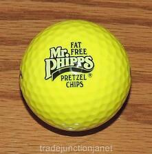 "NEW WILSON ULTRA AR432 USA ""Mr PHIPPS PRETZEL CHIPS"" LOGO OPTIC YELLOW GOLF BALL"