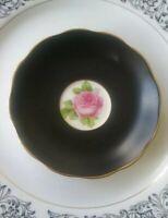 SALE. Royal Albert Old English Rose Matte Black Finish SAUCER ONLY. GUC.