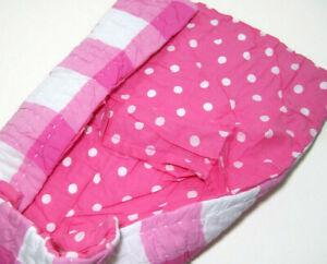 Pottery Barn Teen Kantha Reversible Plaid Polka Dot Standard Pillow Cover Sham