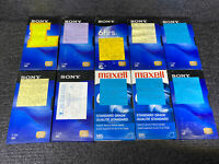 Lot of 10 Pre-Recorded Mix T-120 VHS VCR Tapes Sold As Used Blanks (1 of 2)