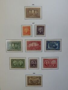#135, 141-148, C1 MNH/MH  Page from the Leuchtturm Album  HCV See details below.