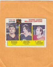 WAYNE GRETZKY-DIONNE-LAFLEUR LL NO:163 in O PEE CHEE 1980-81 Ex cond  LOT 123