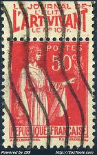 FRANCE TYPE PAIX N° 283 PUB L'ART VIVANT AVEC OBLITERATION