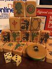 Vtg 1940s Rottgames Bakelite Mahjong Set •146 Tiles •Peacock One Bam