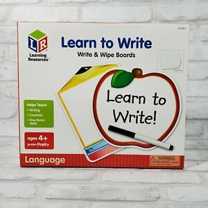 Learn To Write Write and Wipe Boards Learning Resources Dry Erase Reading