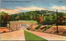 Postcard Entrance To Tunnel Pennsylvania Turnpike