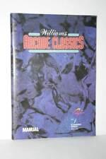 MANUALE WILLIAMS ARCADE CLASSICS USATO BUONO EDIZIONE EUROPEA FR1 55944