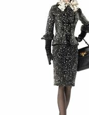 "2017 Silkstone Barbie ""Black & White Tweed Suit"" 2 Piece Suit ONLY"