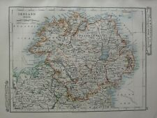 1919 MAP ~ NORTH IRELAND TYRONE ARMAGH DOWN LONDONDERRY DONEGAL