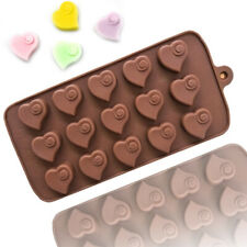Swirl Love Heart Silicone Chocolate Mould Candy Cake Wax Melt Ice Cube Tray Mold