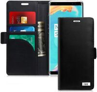 Samsung Galaxy Note 8 Walet Case RFID Blocking Genuine Leather Handmade PU Black