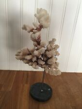 More details for vintage white natural coral on a stand
