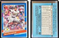 Rick Honeycutt Signed 1991 Donruss #373 Card Oakland Athletics Auto Autograph