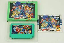 Rockman 5 Megaman NES CAPCOM Nintendo Famicom Box Japan USED