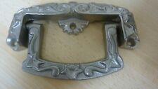 HEAVY SILVER METAL DRAW CUPBOARD DOOR HANDLE/DOOR KNOCKER 413