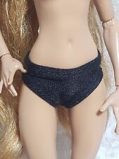 Set of 3 black panties for Monster High and Ever After High dolls
