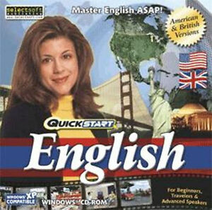QuickStart English  Learn Using Your Native Language   Win Vista 7 8 10  NEW