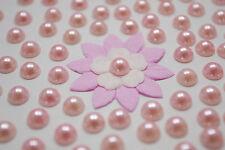 "100! Lovely Peach Half Pearl Flatback Embellishments  - 8mm/0.3"" - Craft Pearls"