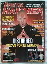 Revista Metal Hammer Nº179 - Disturbed, Slipknot, Stone Sour, Anthrax SIN Poster