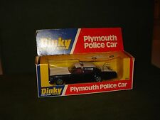1977 DINKY PLYMOUTH POLICE CAR MINT IN PACKAGE #244