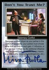 BABYLON 5 CCG Mira Furlan PSI CORPS Don't You Trust Me? AUTOGRAPHED
