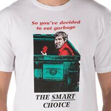 Vans Mens L LARGE ANTI HERO EAT GARBAGE T-Shirt UV30+ WHITE NEW THE SMART CHOICE