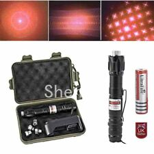 Professional Boxed Red Laser Pointer pen Lazer Beam+UK charger 18650 Battery