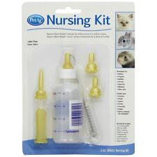 PetAg Small Animal Nursing Kit 2oz Baby Bottle Nipples Brush Puppy Kitten Bunny
