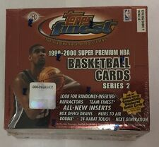 1999-00 Topps Finest Series 2 Basketball Factory Sealed Hobby Box