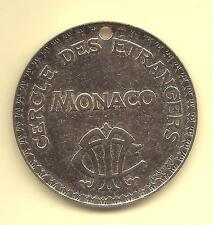 MONACO --- MONTE CARLO --- Jeton 10 F. percé ---  Casino CERCLE des ETRANGERS