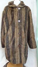 Brownstone Studio Women's Reversible Faux Mink Fur Hip Length Coat 1960's-Size M