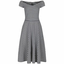 Stripes Hand-wash Only Dresses for Women with Cap Sleeve