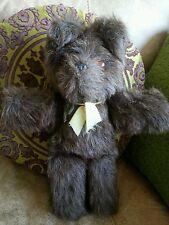 "Vintage Brown Teddy Bear Soft Toy ~ Plastic Eyes, Plastic Moulded Nose 14"""
