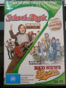 SCHOOL OF ROCK + BAD NEWS BEARS -  2-Disc set R4 DVD (JACK BLACK) - NEW+SEALED