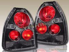 96 97 98 99 00 Honda Civic EK CX/DX 3DR JDM Black Tail Lights Pair