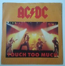 """AC/DC Touch Too Much Single 7"""" UK con dos temas live 1979"""