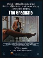 THE GRADUATE__Original 1985 video print AD / advert movie promo__DUSTIN HOFFMAN