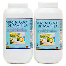 Organic ManilaCoco 100% Virgin Coconut Oil CLEAN FRESH:FLAVOR SHIELD 2 x32= 64oz